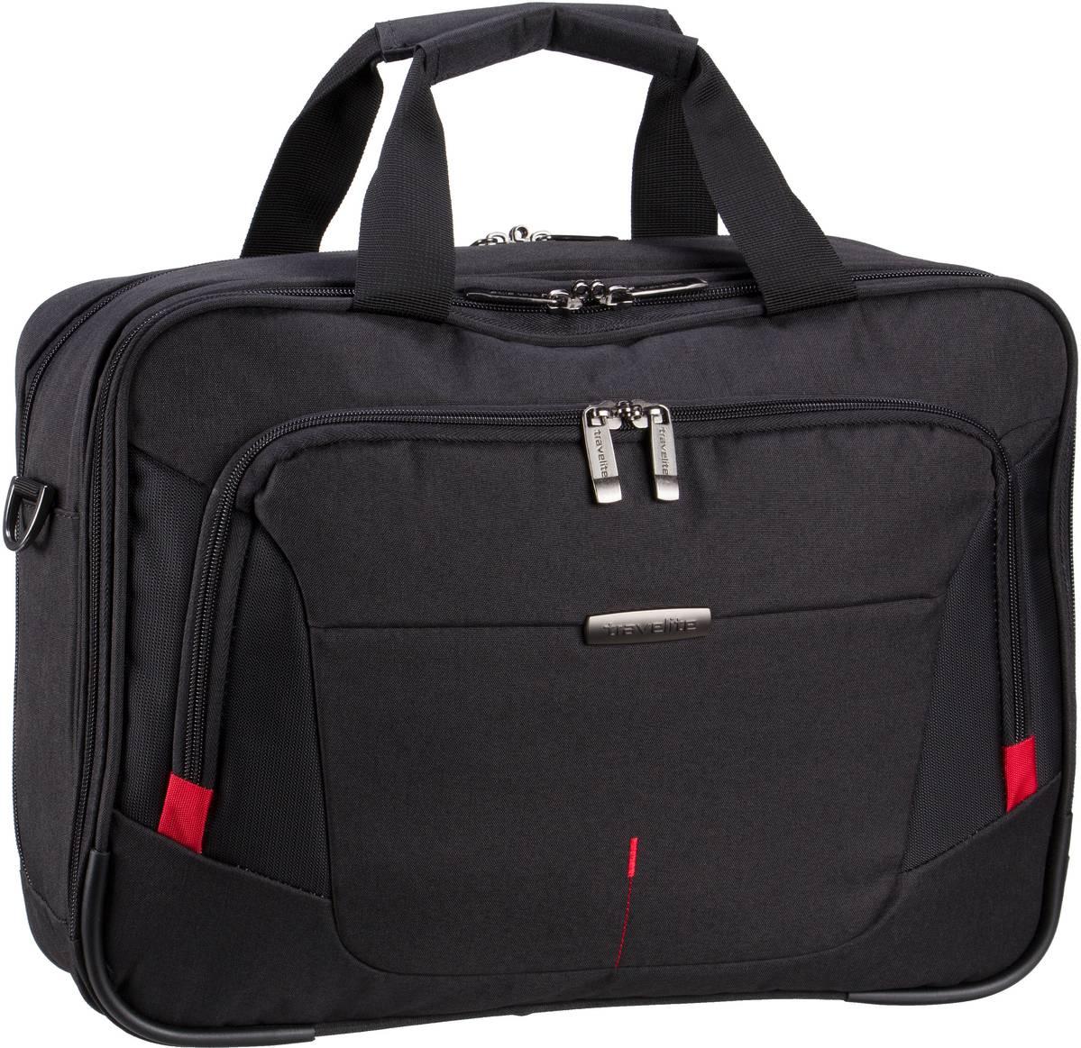 Businesstaschen für Frauen - travelite Aktentasche @Work Businesstasche Schwarz (16 Liter)  - Onlineshop Taschenkaufhaus