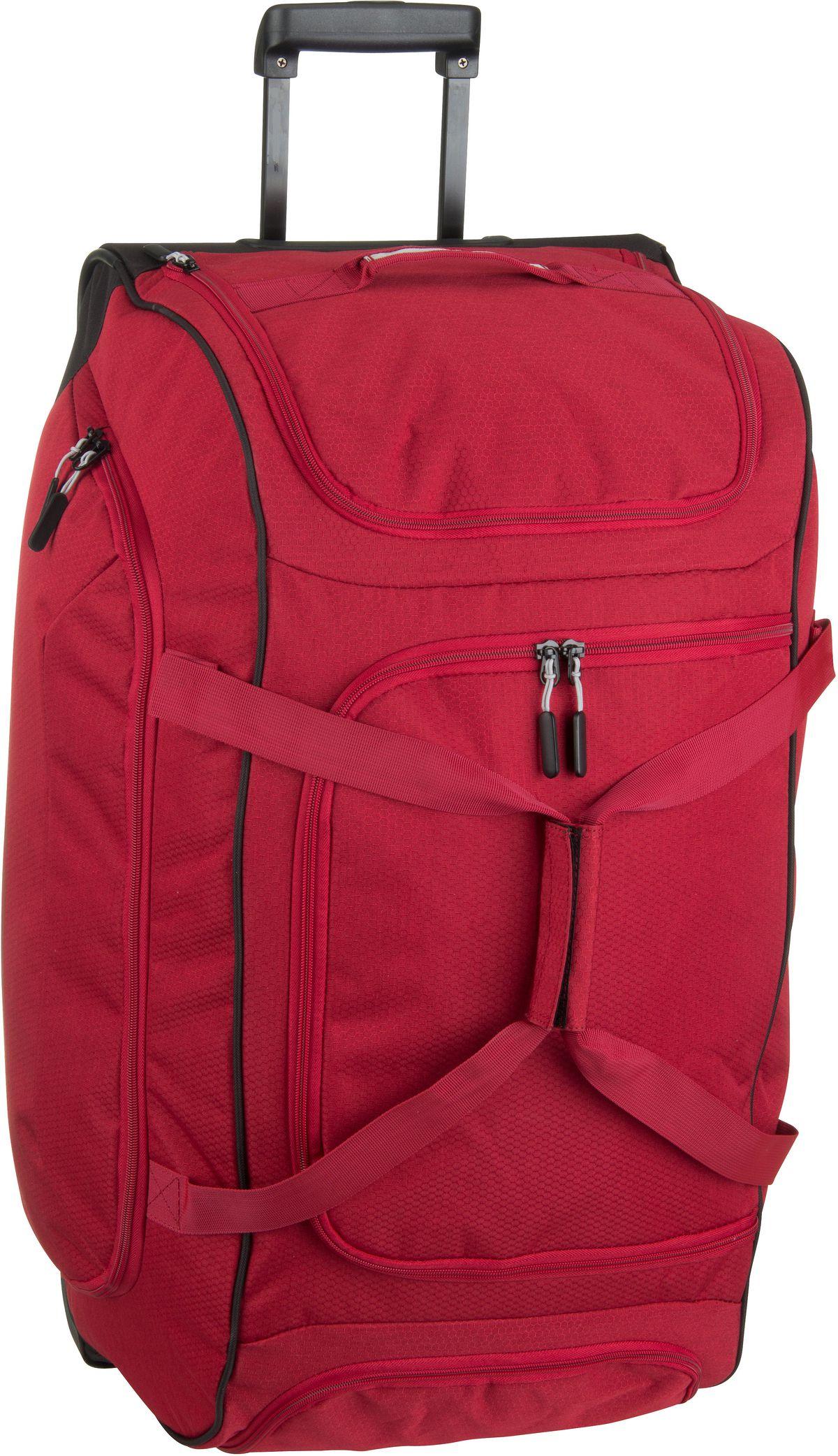Reisegepaeck - travelite Rollenreisetasche Kick Off Trolley Freizeittasche XL Rot (120 Liter)  - Onlineshop Taschenkaufhaus