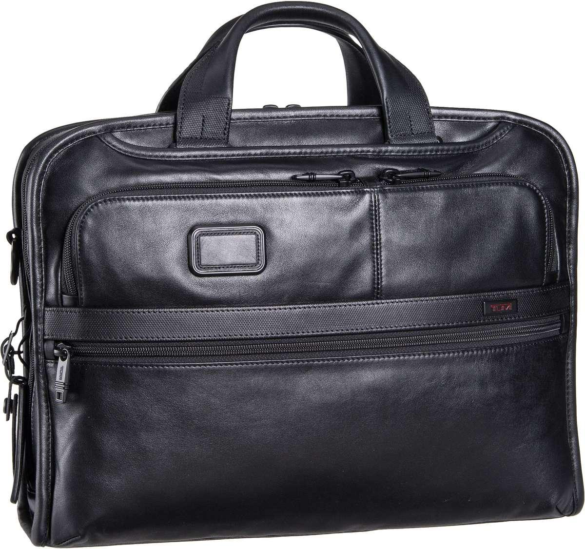 Tumi Alpha 2 Leather Business 96108 Aktentasche Black -