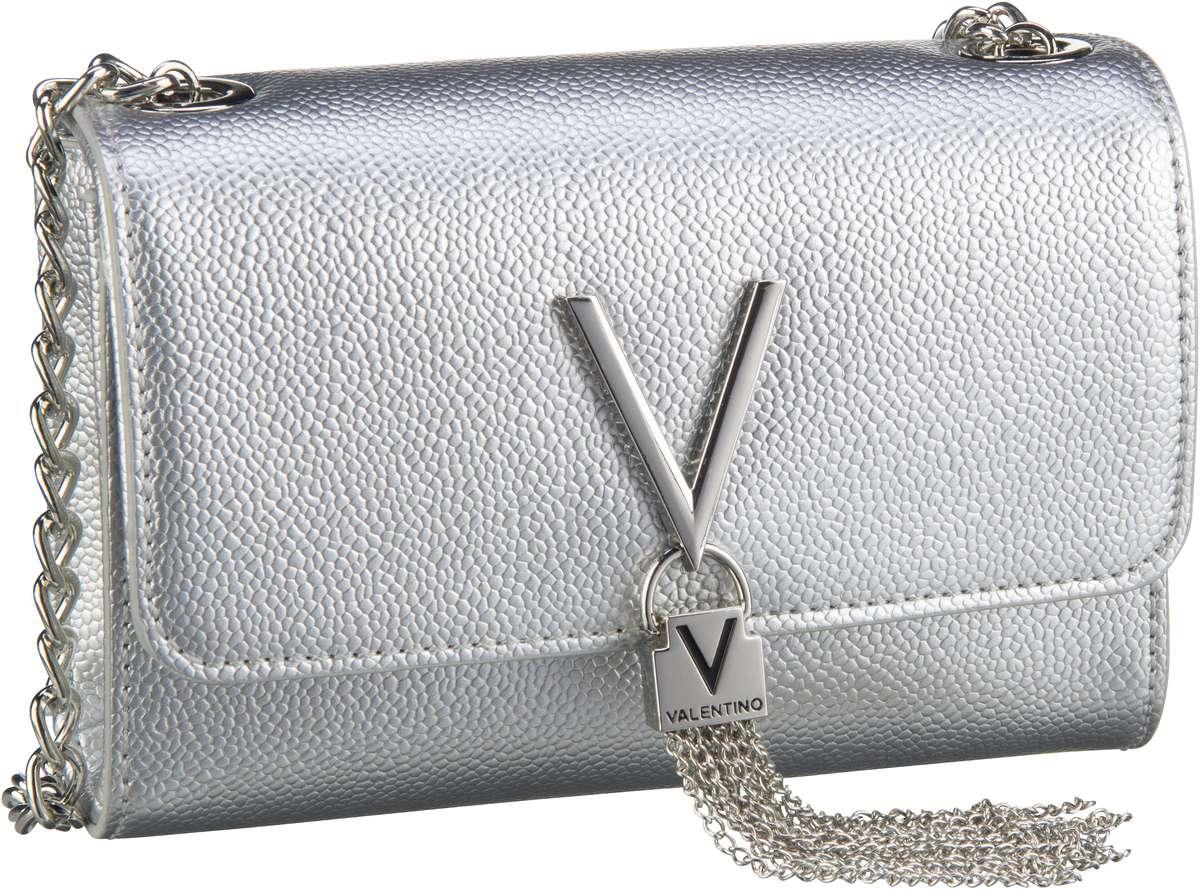 Clutches - Valentino Bags Abendtasche Clutch Divina Pouchette 03G Argento  - Onlineshop Taschenkaufhaus