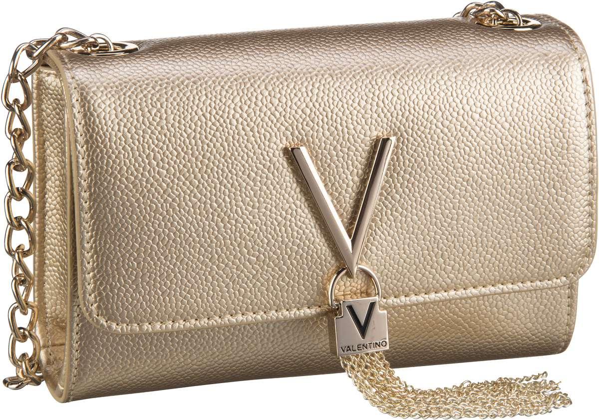 Clutches für Frauen - Valentino Abendtasche Divina Pouchette 03G Oro  - Onlineshop Taschenkaufhaus