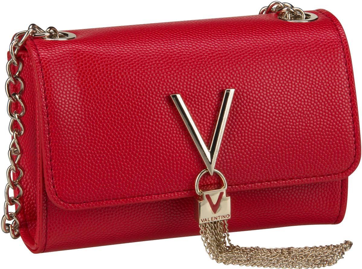 Clutches für Frauen - Valentino Abendtasche Divina Pouchette 03G Rosso  - Onlineshop Taschenkaufhaus