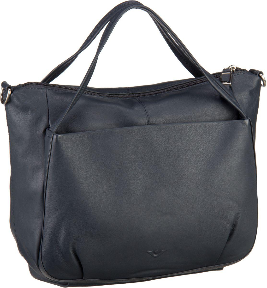 Handtaschen für Frauen - Voi Handtasche Soft 20761 Kurzgrifftasche Blau (innen Grün)  - Onlineshop Taschenkaufhaus