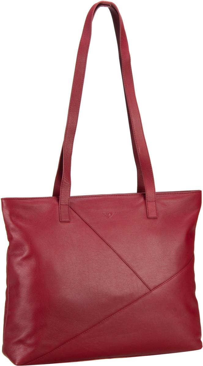 Handtaschen für Frauen - Voi Handtasche Soft 20732 Shopper Granat (innen Blau)  - Onlineshop Taschenkaufhaus