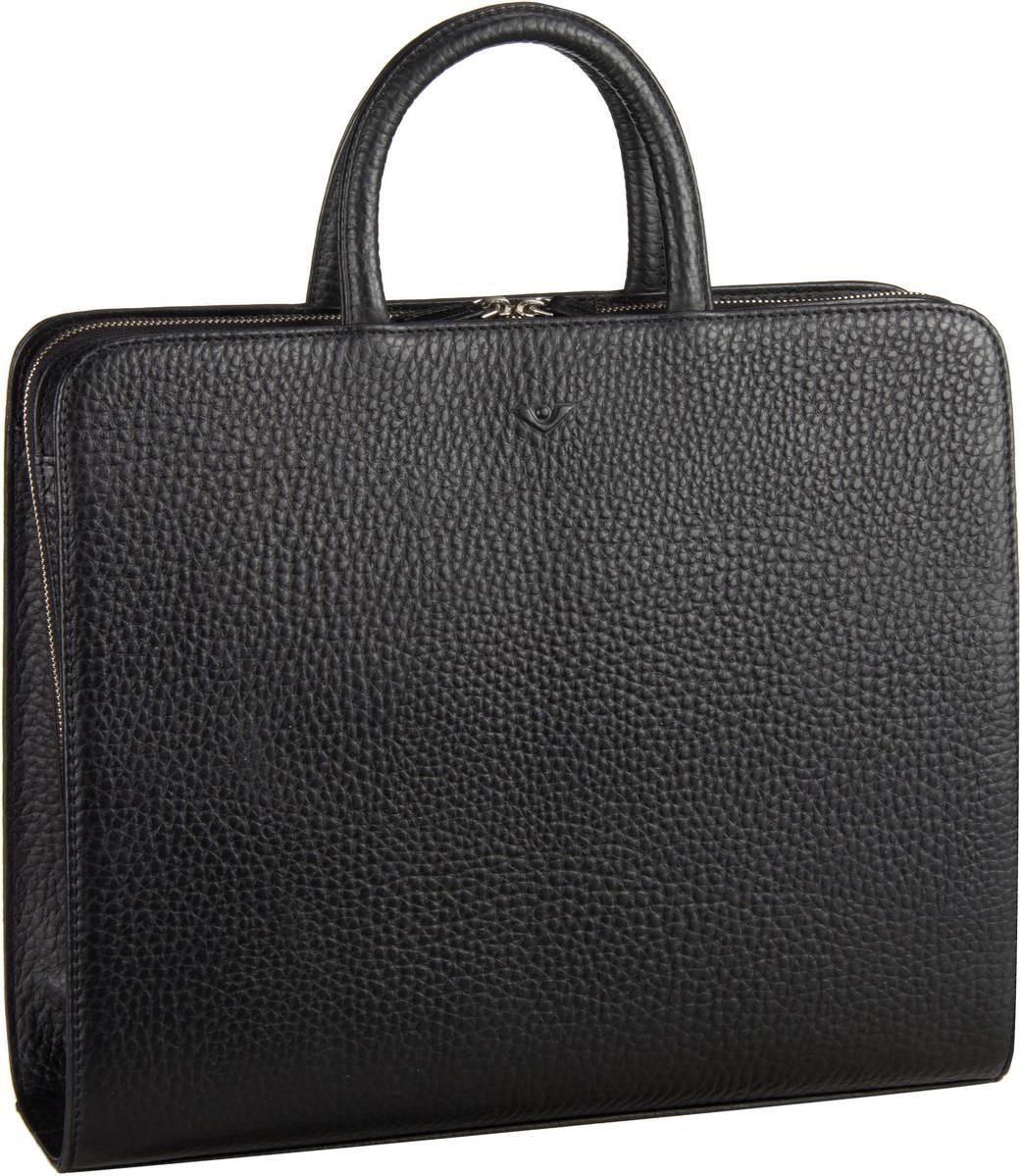 Businesstaschen für Frauen - Voi Hirsch 10517 Ordner Tasche A4 Schwarz Aktenmappe  - Onlineshop Taschenkaufhaus