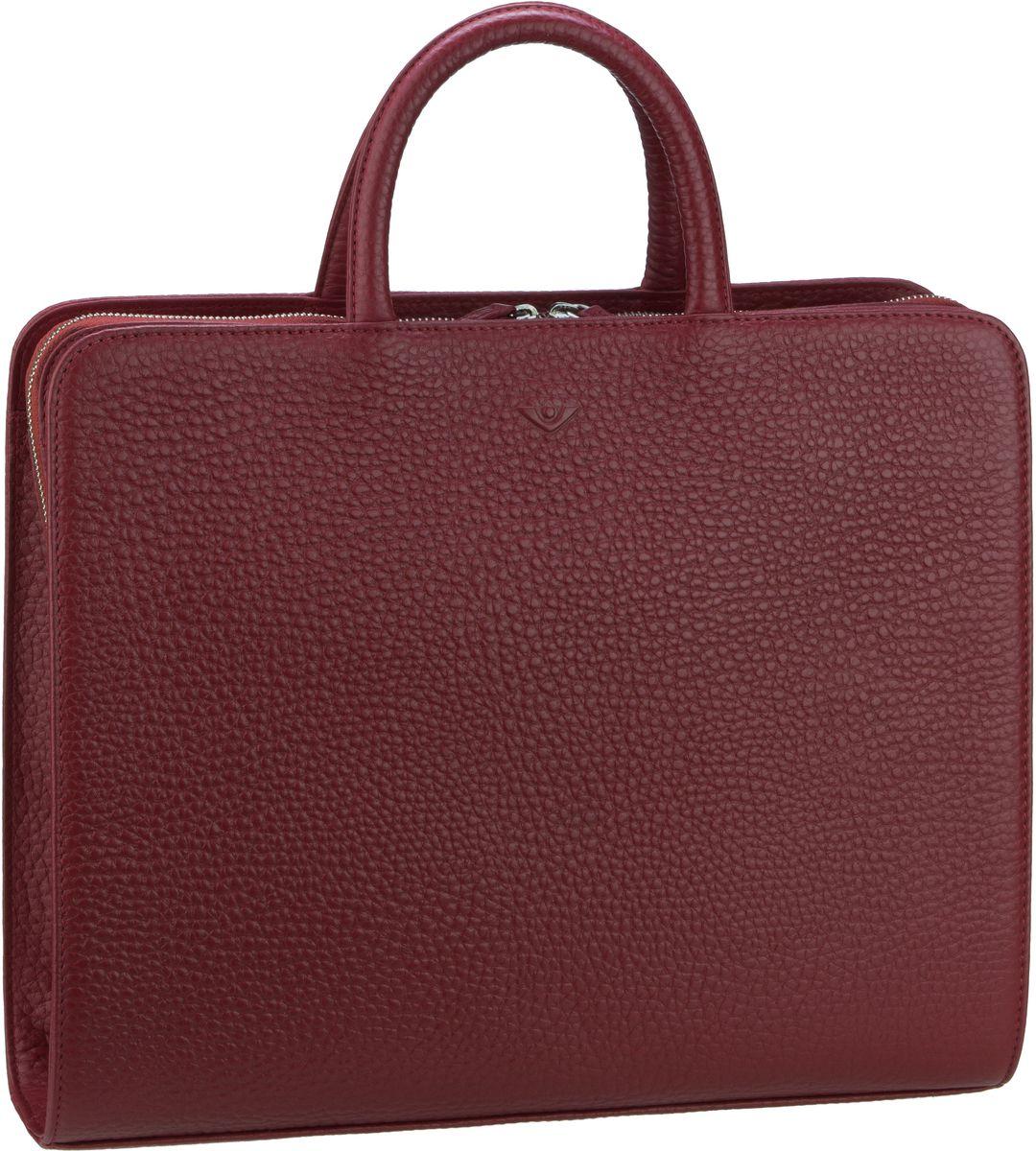 Businesstaschen für Frauen - Voi Aktenmappe Hirsch 10517 Ordner Tasche A4 Granat  - Onlineshop Taschenkaufhaus