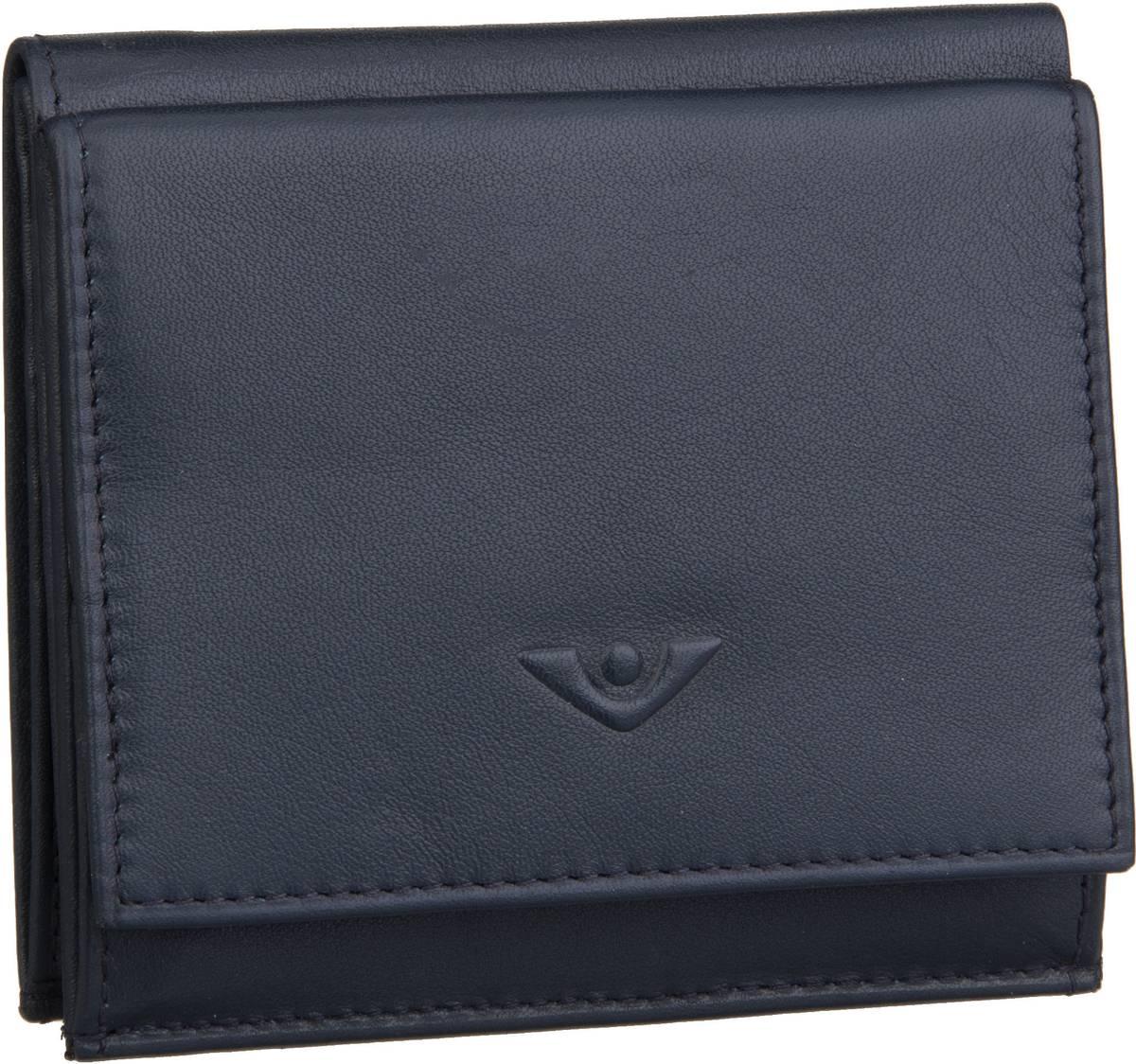 Geldboersen für Frauen - Voi Geldbörse Soft 70024 Wienerschachtel Blau  - Onlineshop Taschenkaufhaus