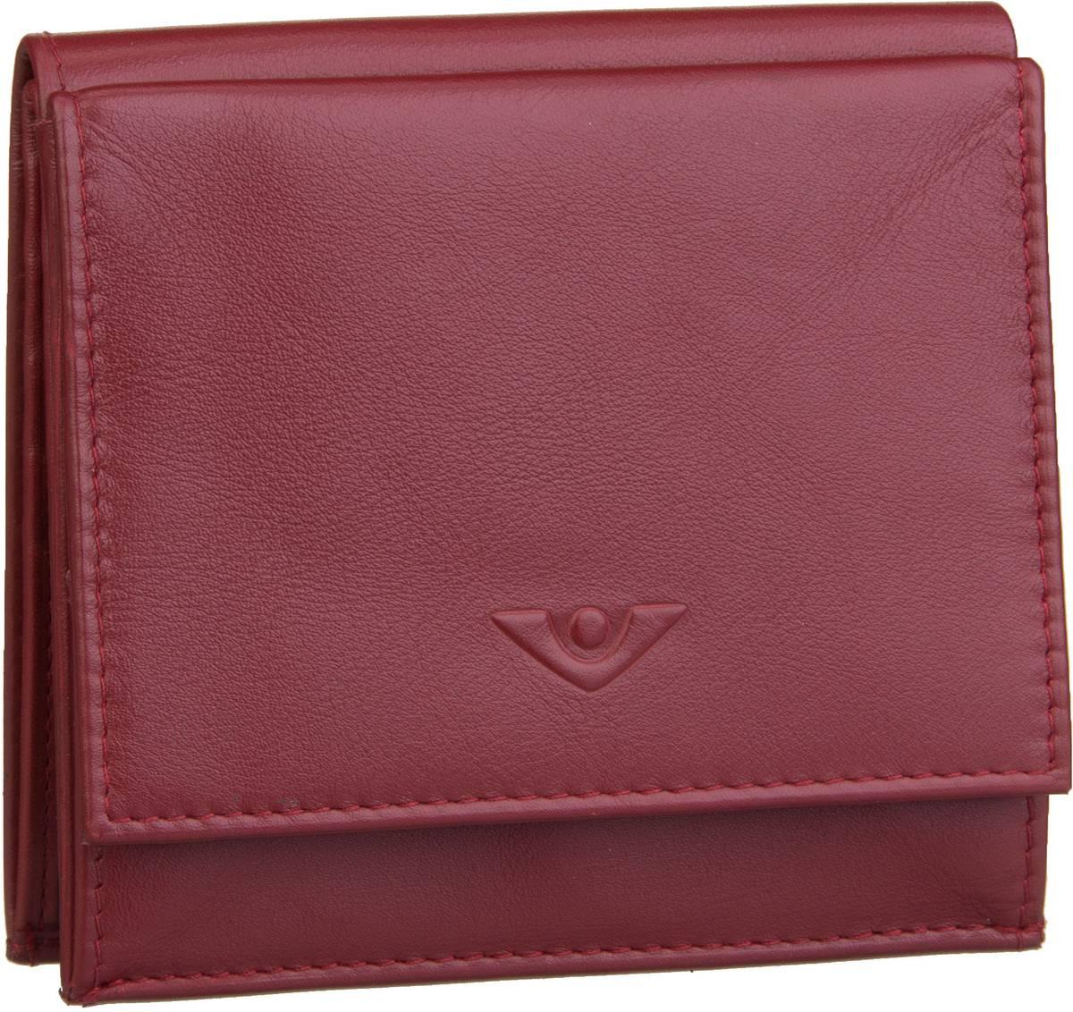 Geldboersen für Frauen - Voi Geldbörse Soft 70024 Wienerschachtel Granat  - Onlineshop Taschenkaufhaus
