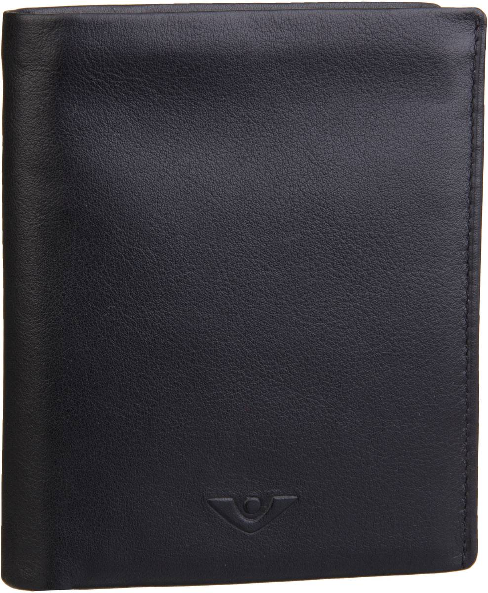 Geldboersen für Frauen - Voi Geldbörse Soft 70312 Kombibörse Schwarz  - Onlineshop Taschenkaufhaus