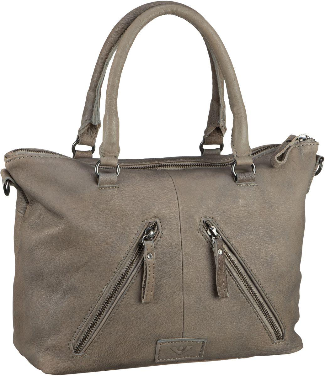 Handtaschen für Frauen - Voi Handtasche Capra 21201 Kurzgrifftasche Taupe  - Onlineshop Taschenkaufhaus