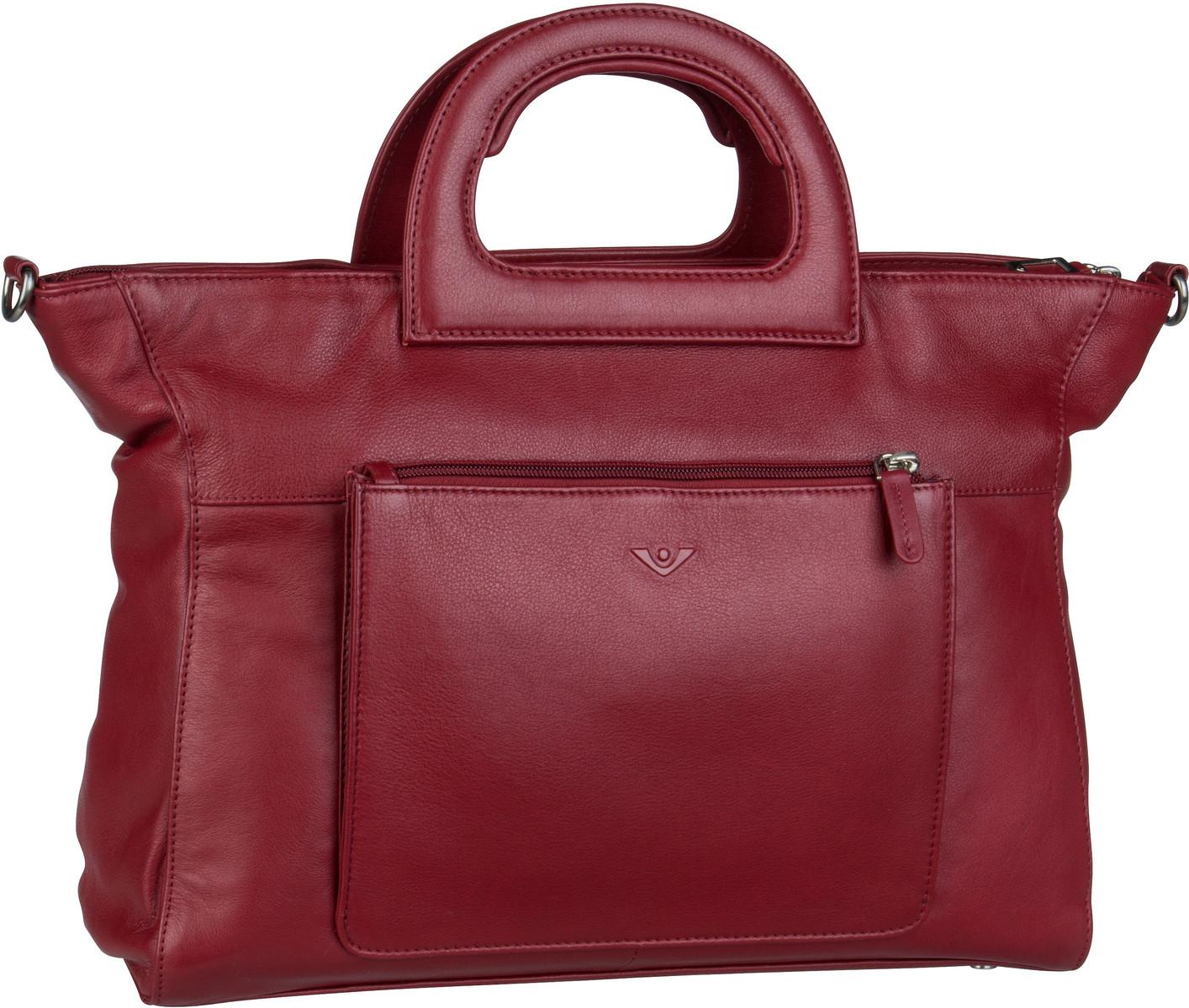 Voi Handtasche Soft 21552 Kurzgrifftasche Granat