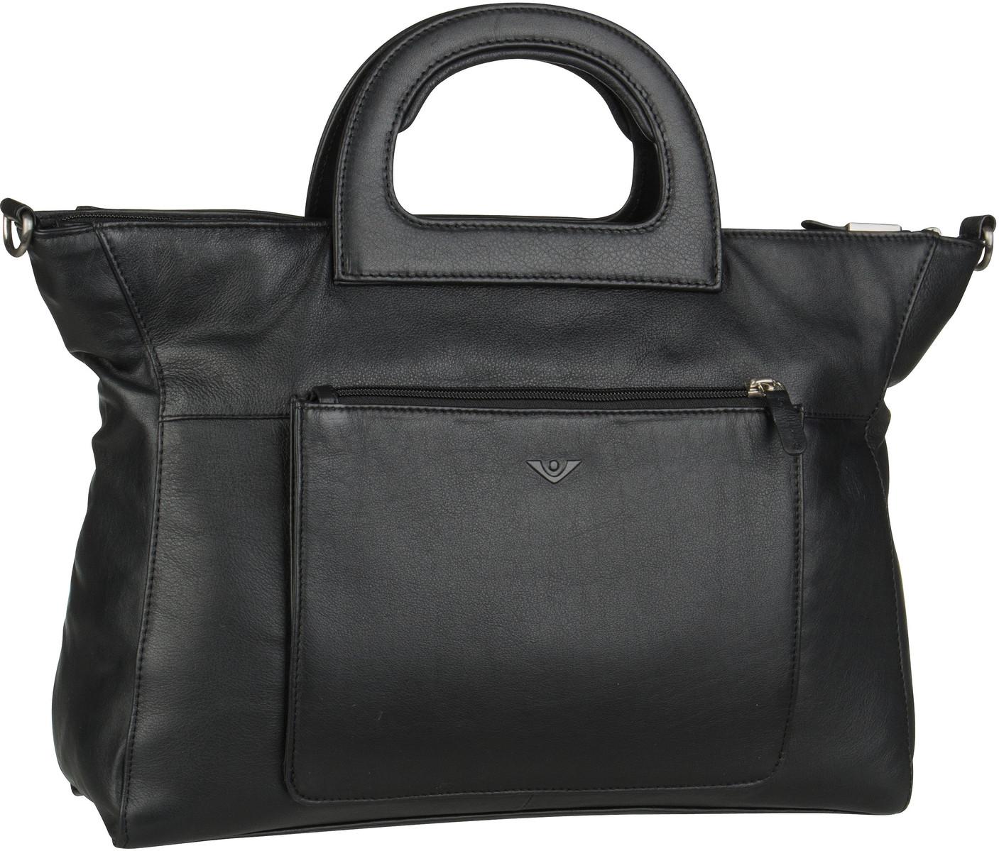 Voi Handtasche Soft 21552 Kurzgrifftasche Schwarz