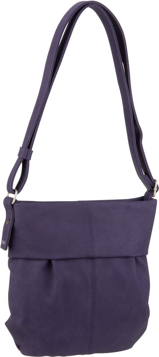 Handtasche Mademoiselle M10 Nubuk/Violet (innen: Beige geblümt) (4 Liter)