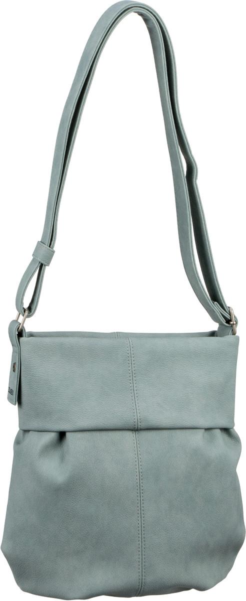 Handtaschen für Frauen - zwei Handtasche Mademoiselle M10 Nubuk Mint (innen Beige geblümt) (4 Liter)  - Onlineshop Taschenkaufhaus