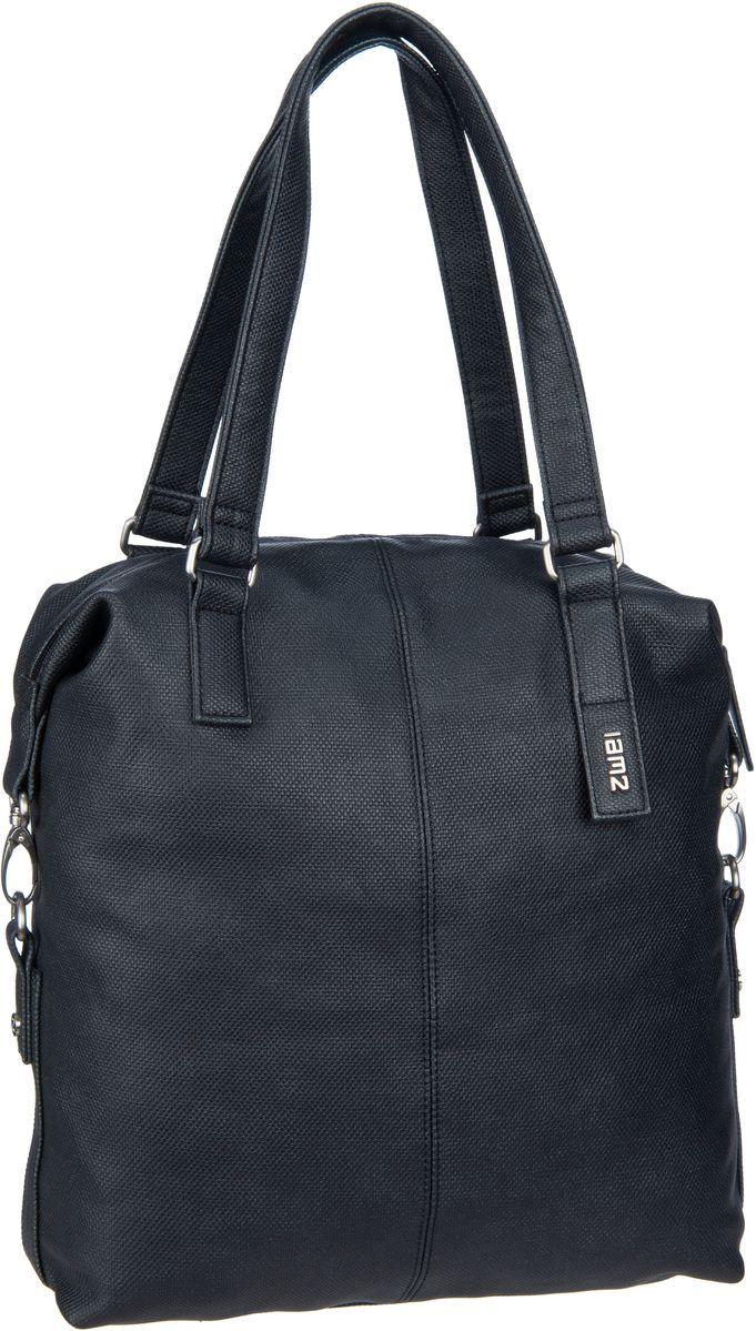 Handtaschen für Frauen - zwei Handtasche Conny CY12 Canvas Graphit (10 Liter)  - Onlineshop Taschenkaufhaus