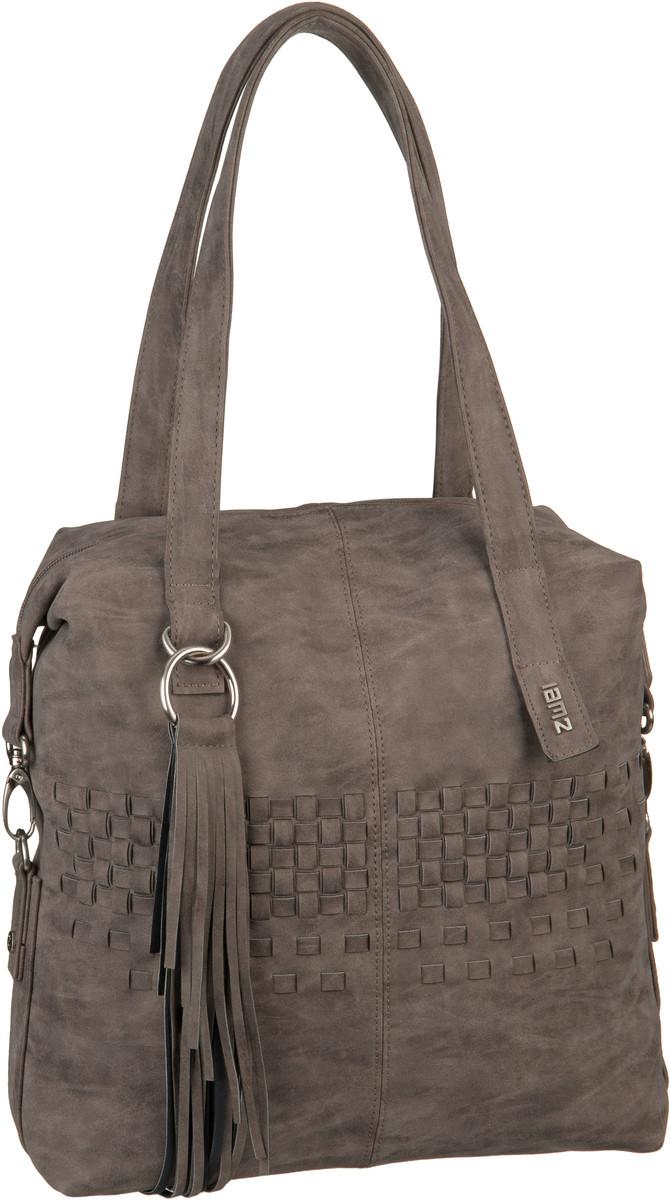 Handtaschen für Frauen - zwei Handtasche Conny CY12 Flecht Stone (10 Liter)  - Onlineshop Taschenkaufhaus