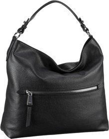 Abro CALF ADRIA 27812 - Shopping Bag - black/nickel