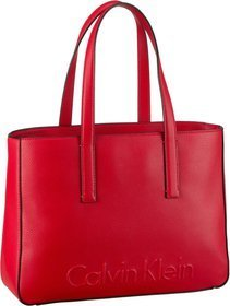 Calvin Klein Edge Medium Shopper - Scarlet
