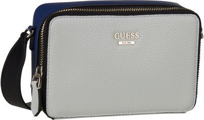 Guess Dania Mini Crossbody Top Zip - White Multi