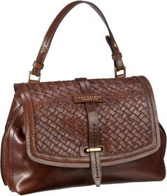 The Bridge Salinger Handtasche 3407 - Marrone (innen: Rot)