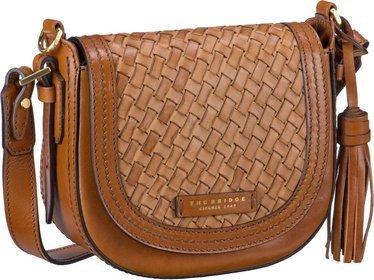 The Bridge Salinger Schultertasche 1217 - Cognac (innen: Rot)