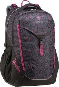Deuter Rucksack / Daypack Ypsilon Black Flora (innen: Pink) (28 Liter)