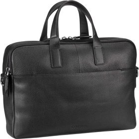 Calvin Klein Essential Leather Laptop Bag - Black