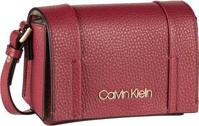 Calvin Klein City Leather SML Flap Crossbody - Red Rock