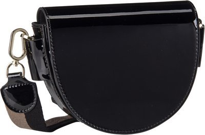 Liebeskind Berlin MixeDbag Patent SaddleBag S - Black
