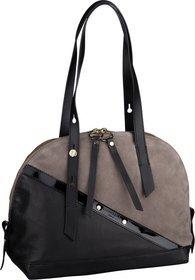 Liebeskind Berlin Handtasche Helmet Patent Bowling Bag S Cold Grey