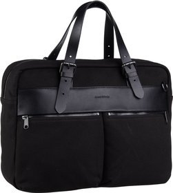 Marc O'Polo Aktentasche Theo Shoulder Bag M Rough Canvas Black