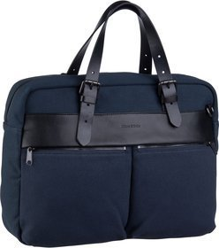 Marc O'Polo Theo Shoulder Bag M Rough Canvas - True Navy