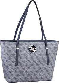Guess Open Road Tote Logo - Blue
