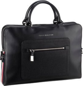 Tommy Hilfiger Corporate Leather Computer Bag 4240 - Black