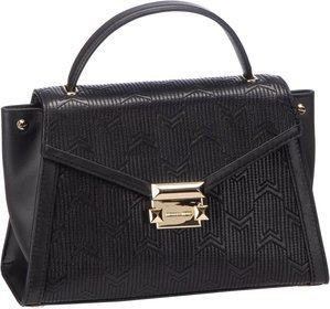 Michael Kors Whitney Medium TH Satchel Quilted - Black