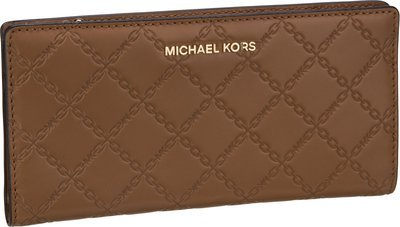 Michael Kors Jet Set LG Card Case Carryall Chain - Acorn