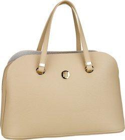 Tommy Hilfiger Handtasche TH Core Satchel 6444 Warm Sand/Silver Metallic (innen: Silber)