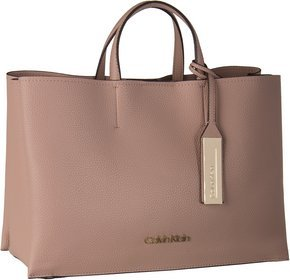 Calvin Klein Shopper Sided Large Tote Nude