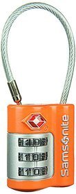 Samsonite US Air Travel 3 Dial Cable Lock - Orange