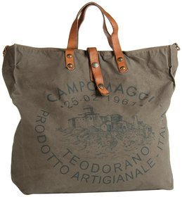 Campomaggi Lambro Canvas Bag - Militare/Naturale