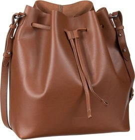 Sandqvist Marianne Leather Bucket Bag - Cognac Brown