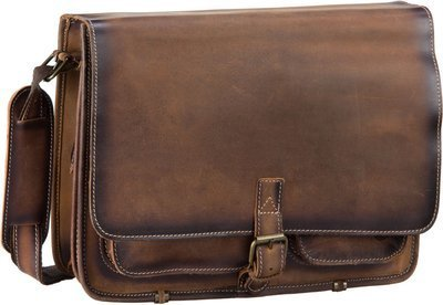 Greenburry Buffalo 1003 Posttasche XL - Burnish Teak Brown