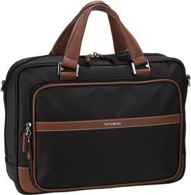 "Samsonite Fairbrook Bailhandle 14.1"" - Black/Cognac"