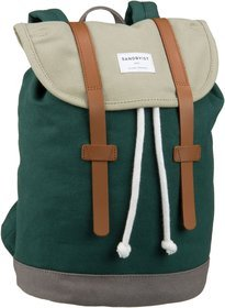 Sandqvist Stig Mini Backpack - Multi Sage/Forest/Green/Grey