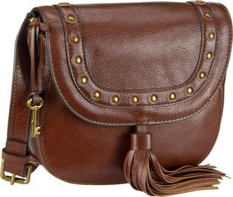 Emi Saddle Bag Embellished - Fossil -