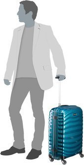 Samsonite Lite-Shock Spinner 55/20 - Petrol Blue