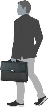 "Samsonite Formalite Briefcase 2 Gussets 15.6"" - Grey"