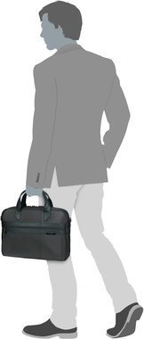 "Samsonite Formalite Bailhandle 14.1"" - Grey"