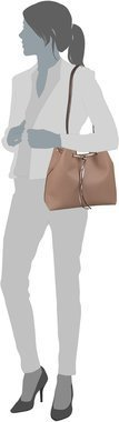 Guess Bobbi Inside Out Drawstring - Latte/Nude (innen: Beige)