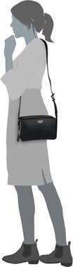 Guess Dania Mini Crossbody Top Zip - Black